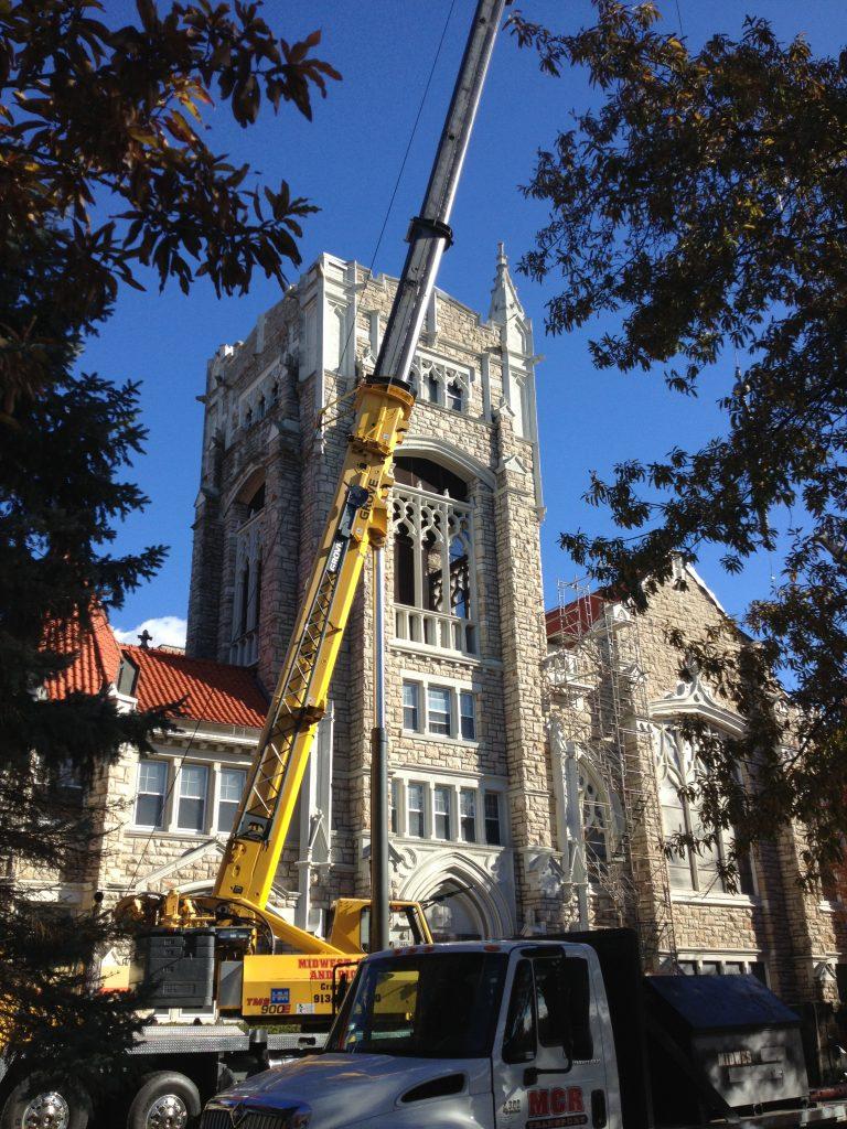 Tower Renovation Begins